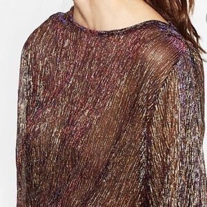 Iridescent gold Zara top
